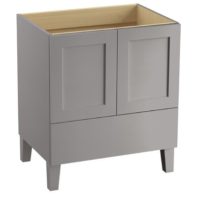 Poplin� 30 Vanity with Furniture Legs, 2 Doors and 1 Drawer Finish: Mohair Grey