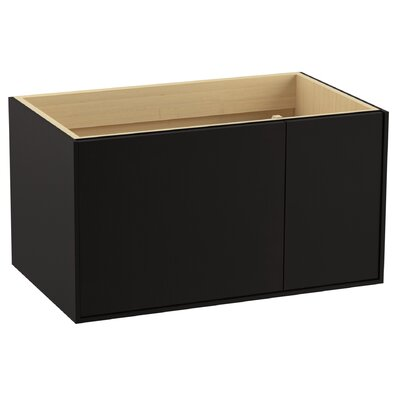 Jute� 36 Vanity with 1 Door and 1 Drawer on Right Base Finish: Batiste Black