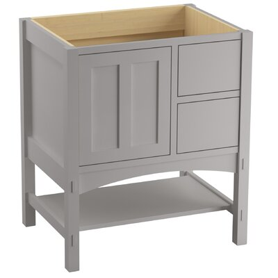 Marabou� 30 Vanity with 1 Door and 2 Drawers on Right Finish: Mohair Grey