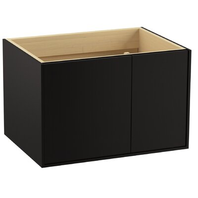 "Jute 30"" Vanity with 1 Door and 1 Drawer on Right Finish: Batiste Black"
