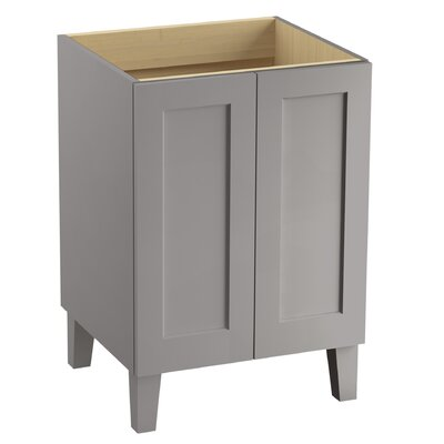 Poplin 24 Vanity with Furniture Legs and 2 Doors Finish: Mohair Grey