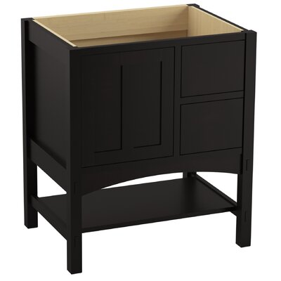 Marabou� 30 Vanity with 1 Door and 2 Drawers on Right Finish: Batiste Black