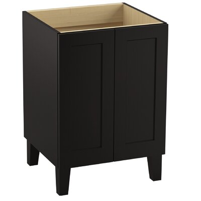 "Poplin 24"" Vanity with Furniture Legs and 2 Doors Finish: Batiste Black"