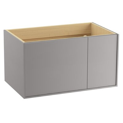 Jute� 36 Vanity with 1 Door and 1 Drawer on Right Base Finish: Mohair Gray