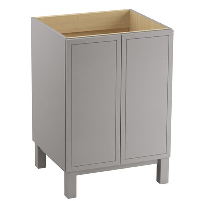 Jacquard� 24 Vanity with Furniture Legs and 2 Doors Finish: Mohair Grey