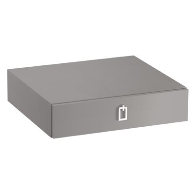 Poplin�/Marabou� Lap Drawer Finish: Mohair Grey