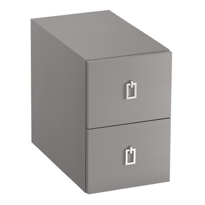 Poplin/Marabou 2-Drawer Bridge Finish: Mohair Grey
