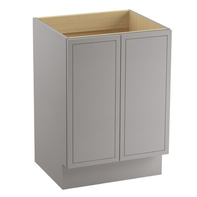 Jacquard� 24 Vanity with Toe Kick and 2 Doors Finish: Mohair Grey