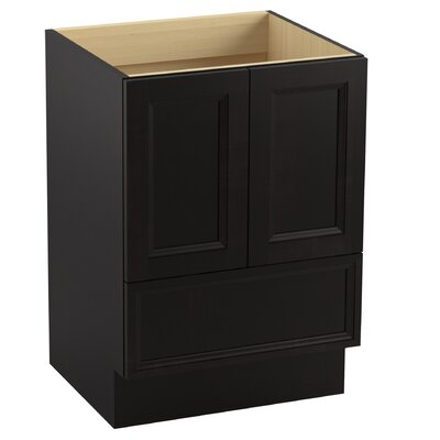 Damask� 24 Vanity with Toe Kick, 2 Doors and 1 Drawer Finish: Batiste Black