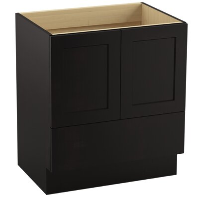 Poplin� 30 Vanity with Toe Kick, 2 Doors and 1 Drawer Finish: Batiste Black