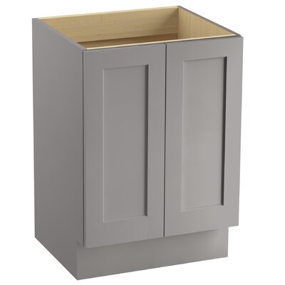 Poplin� 24 Vanity with Toe Kick and 2 Doors Finish: Mohair Grey