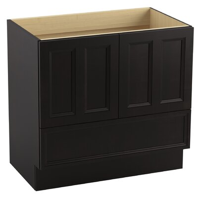 Damask� 36 Vanity with Toe Kick, 2 Doors and 1 Drawer Finish: Batiste Black