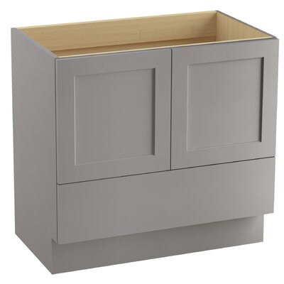 Poplin 36 Vanity with Toe Kick, 2 Doors and 1 Drawer Finish: Mohair Grey