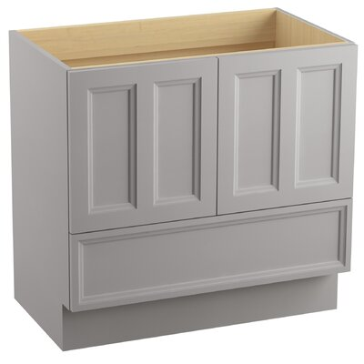 Damask 36 Vanity with Toe Kick, 2 Doors and 1 Drawer Finish: Mohair Grey