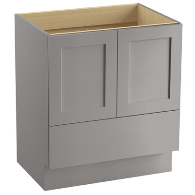 Poplin 30 Vanity with Toe Kick, 2 Doors and 1 Drawer Finish: Mohair Grey