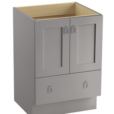 Poplin 24 Vanity with Toe Kick, 2 Doors and 1 Drawer Finish: Mohair Grey