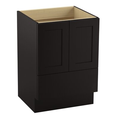 Poplin� 24 Vanity with Toe Kick, 2 Doors and 1 Drawer Finish: Batiste Black