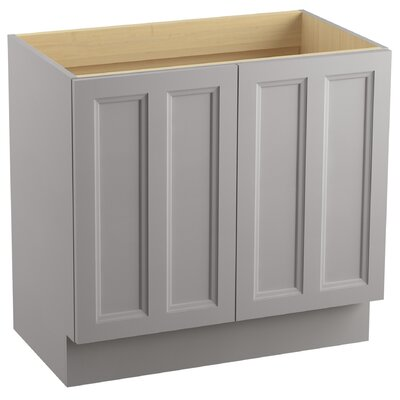 Damask 36 Vanity with Toe Kick and 2 Doors Finish: Mohair Grey