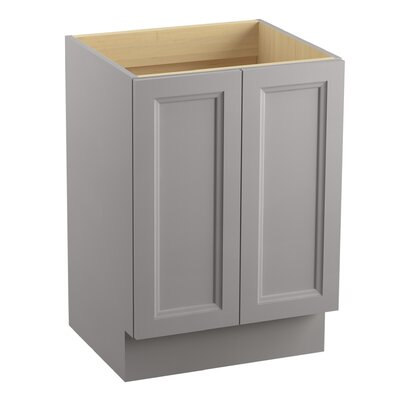 "Jacquard 48"" Vanity with Toe Kick and 2 Doors Finish: Mohair Grey"
