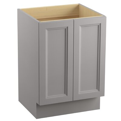 Damask� 24 Vanity with Toe Kick and 2 Doors Finish: Mohair Grey