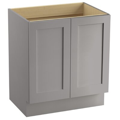 "Poplin 30"" Vanity with Toe Kick and 2 Doors Finish: Mohair Grey"