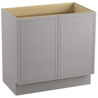 "Jacquard 36"" Vanity with Toe Kick and 2 Doors Finish: Mohair Grey"