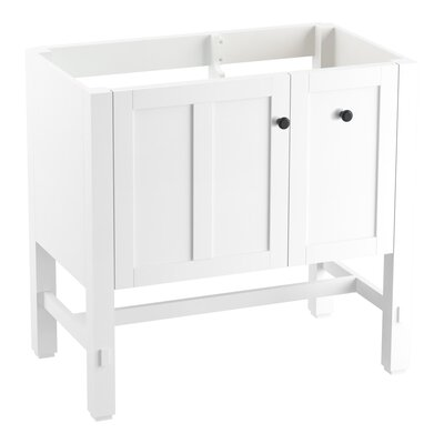 Tresham 36 Bathroom Vanity Base Base Finish: Linen White