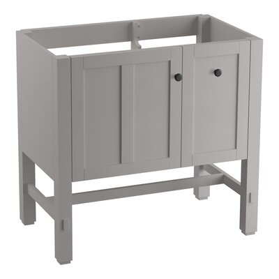 Tresham 36 Bathroom Vanity Base Base Finish: Mohair Gray