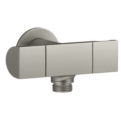 Exhale Wall-Mount Supply Elbow with Bracket and Volume Control Finish: Vibrant Brushed Nickel