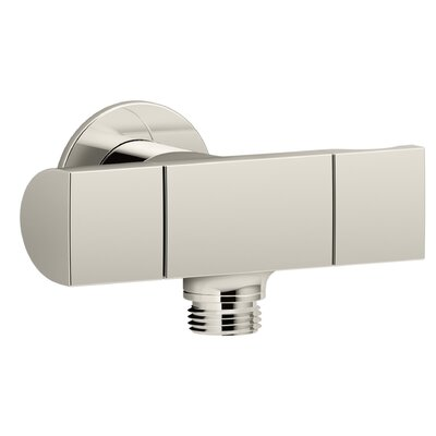 Exhale Wall-Mount Supply Elbow with Bracket and Volume Control Finish: Vibrant Polished Nickel