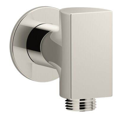 Exhale Wall-Mount Supply Elbow with Check Valve Finish: Vibrant Polished Nickel