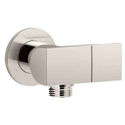 Exhale Wall-Mount Supply Elbow with Check Valve and Handshower Bracket Finish: Vibrant Polished Nickel
