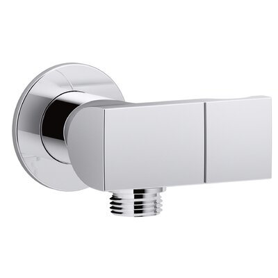 Exhale Wall-Mount Supply Elbow with Check Valve and Handshower Bracket Finish: Polished Chrome