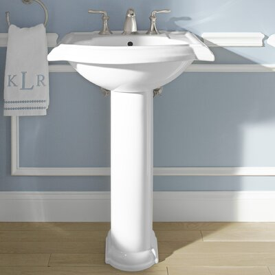 Devonshire� Ceramic 24 Pedestal Bathroom Sink with Overflow
