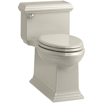 Memoirs Classic Comfort Height Skirted One-Piece Compact Elongated 1.28 gpf Toilet with AquaPiston Flush Technology and Left-Hand Trip Lever Finish: Sandbar
