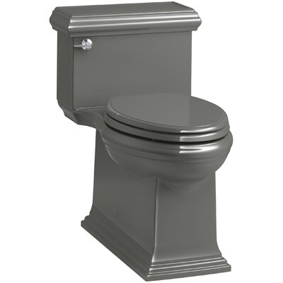 Memoirs Classic Comfort Height Skirted One-Piece Compact Elongated 1.28 gpf Toilet with AquaPiston Flush Technology and Left-Hand Trip Lever Finish: Thunder Grey