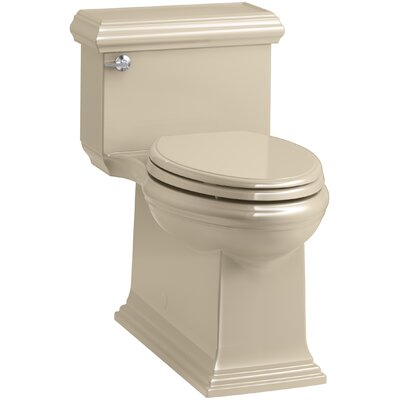 Memoirs Classic Comfort Height Skirted One-Piece Compact Elongated 1.28 gpf Toilet with AquaPiston Flush Technology and Left-Hand Trip Lever Finish: Mexican Sand