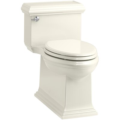 Memoirs Classic Comfort Height Skirted One-Piece Compact Elongated 1.28 gpf Toilet with AquaPiston Flush Technology and Left-Hand Trip Lever Finish: Biscuit