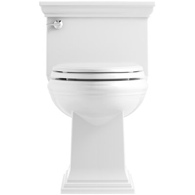 Memoirs Stately Comfort Height Skirted One-Piece Compact Elongated 1.28 gpf Toilet with AquaPiston Flush Technology and Left-Hand Trip Lever Finish: White
