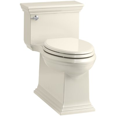 Memoirs Stately Comfort Height Skirted One-Piece Compact Elongated 1.28 gpf Toilet with AquaPiston Flush Technology and Left-Hand Trip Lever Finish: Almond