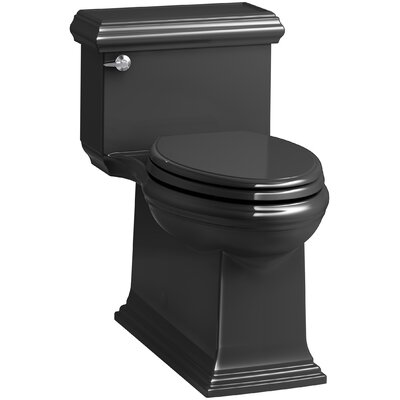 Memoirs Classic Comfort Height Skirted One-Piece Compact Elongated 1.28 gpf Toilet with AquaPiston Flush Technology and Left-Hand Trip Lever Finish: Black Black