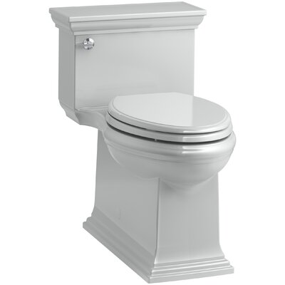 Memoirs Stately Comfort Height Skirted One-Piece Compact Elongated 1.28 gpf Toilet with AquaPiston Flush Technology and Left-Hand Trip Lever Finish: Ice Grey