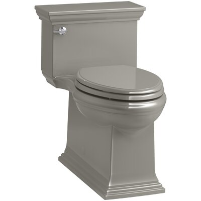 Memoirs Stately Comfort Height Skirted One-Piece Compact Elongated 1.28 gpf Toilet with AquaPiston Flush Technology and Left-Hand Trip Lever Finish: Cashmere