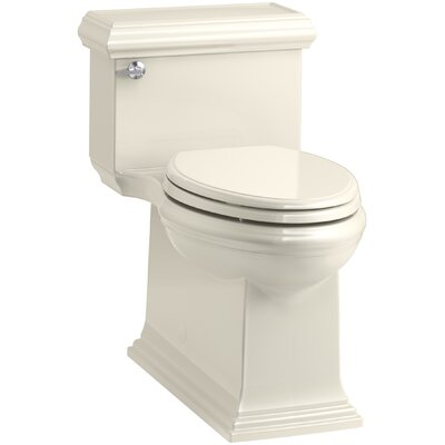 Memoirs Classic Comfort Height Skirted One-Piece Compact Elongated 1.28 gpf Toilet with AquaPiston Flush Technology and Left-Hand Trip Lever Finish: Almond