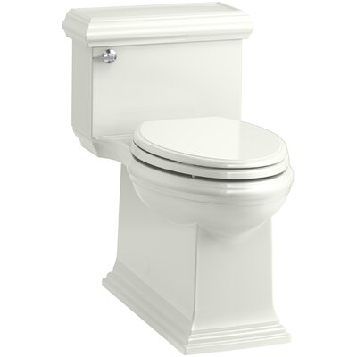 Memoirs Classic Comfort Height Skirted One-Piece Compact Elongated 1.28 gpf Toilet with AquaPiston Flush Technology and Left-Hand Trip Lever Finish: Dune