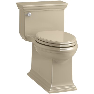 Memoirs Stately Comfort Height Skirted One-Piece Compact Elongated 1.28 gpf Toilet with AquaPiston Flush Technology and Left-Hand Trip Lever Finish: Mexican Sand