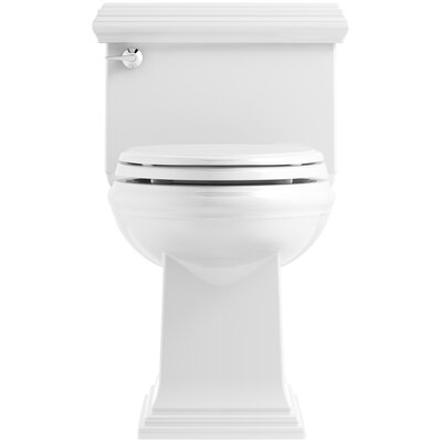 Memoirs Classic Comfort Height Skirted One-Piece Compact Elongated 1.28 gpf Toilet with AquaPiston Flush Technology and Left-Hand Trip Lever Finish: White