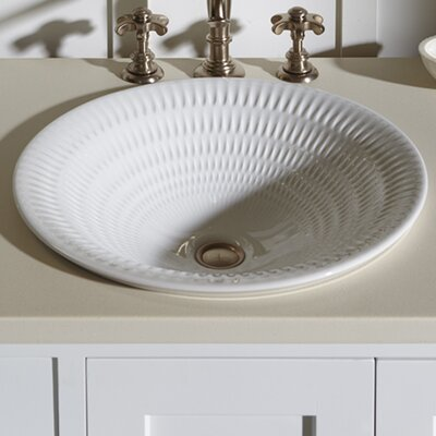 Derring Carillon Wading Vessel Bathroom Sink Sink Finish: Translucent White