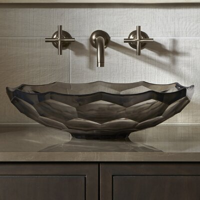 Artist Editions Briolette Circular Vessel Bathroom Sink Finish: Translucent Dusk