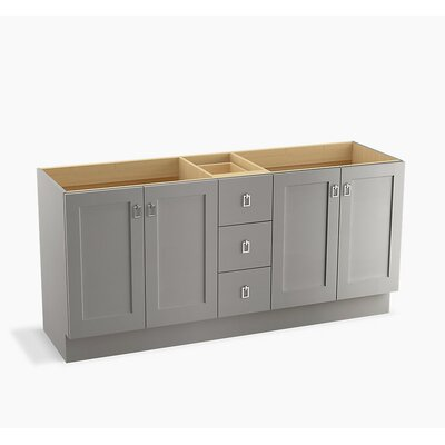 Poplin� 72 Vanity with Toe Kick, 4 Doors and 3 Drawers Finish: Mohair Grey